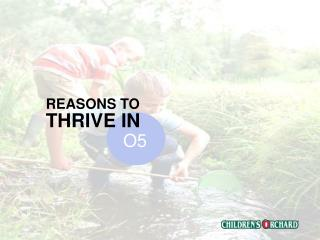 REASONS TO  THRIVE IN