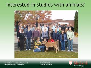 Interested in studies with animals?