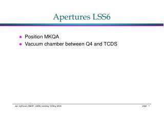 Apertures LSS6