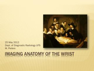 Imaging Anatomy of the Wrist