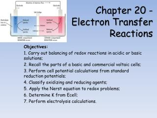 Chapter 20 -  Electron Transfer Reactions