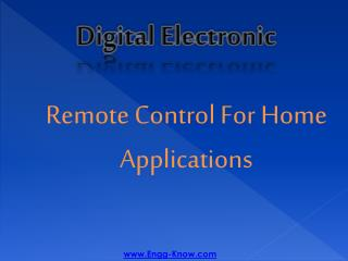 Remote Control For Home Applications