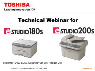 Technical Webinar for