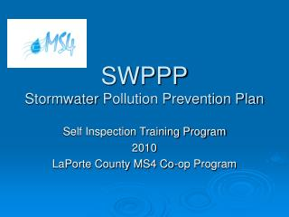 SWPPP Stormwater  Pollution Prevention Plan