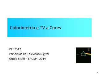 Colorimetria e TV a Cores