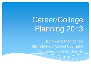 Career/College  Planning  2013