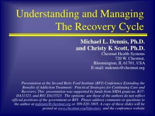 Understanding and Managing The Recovery Cycle
