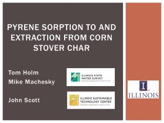 Pyrene Sorption to and Extraction from Corn Stover Char