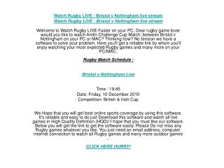 Rugby Union Live watch faster