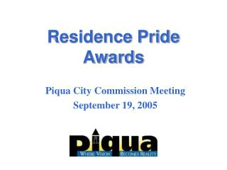 Residence Pride Awards