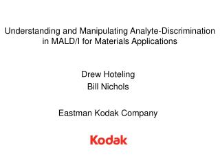 Understanding and Manipulating Analyte-Discrimination in MALD/I for Materials Applications