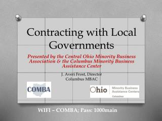 Contracting with Local Governments