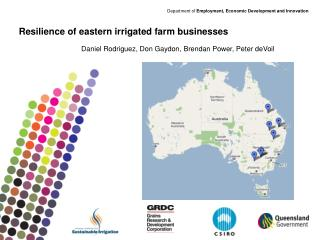 Resilience of eastern irrigated farm businesses