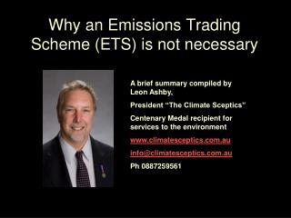 Why an Emissions Trading Scheme (ETS) is not necessary