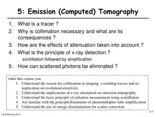 5: Emission (Computed) Tomography