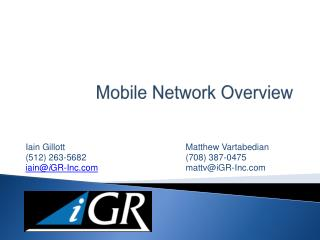 Mobile Network Overview