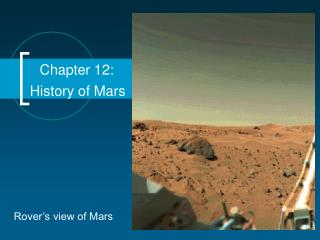 Chapter 12: History of Mars