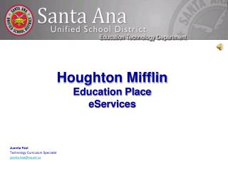 Houghton Mifflin Education Place eServices