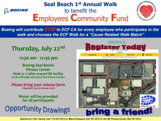 Seal Beach 1 st  Annual Walk to benefit the E mployees  C ommunity  F und
