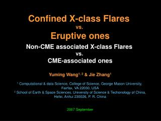 Confined X-class Flares  vs.  Eruptive ones Non-CME associated X-class Flares  vs.