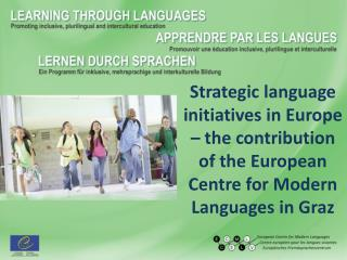 Council of Europe  and language education
