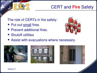 CERT and  Fire  Safety