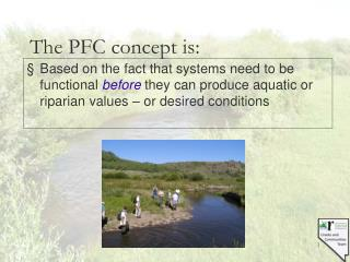 The PFC concept is: