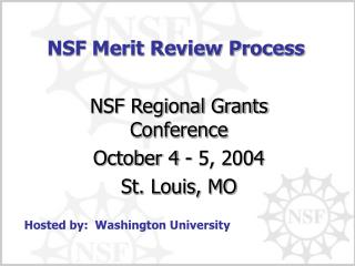 NSF Merit Review Process