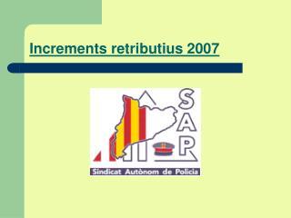 Increments retributius 2007