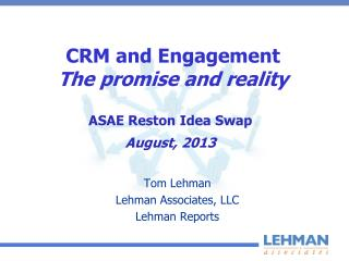 CRM and Engagement The promise and reality