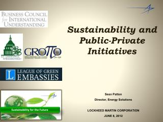 Sustainability and Public-Private Initiatives