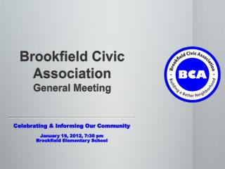 Brookfield Civic Association General Meeting