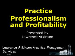 Presented by Lawrence Atkinson