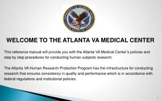 WELCOME TO THE ATLANTA VA MEDICAL CENTER