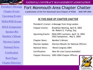 Fort Monmouth Area Chapter Chatter