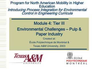 Module 4: Tier III Environmental Challenges – Pulp & Paper Industry Created at: