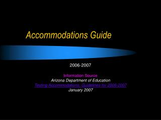Accommodations Guide