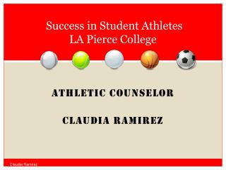 Success in Student Athletes  LA Pierce College