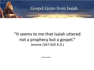 Gospel Gems from Isaiah