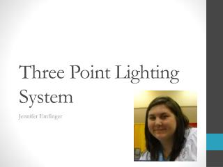 Three Point Lighting System