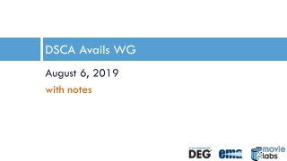 DSCA Avails WG