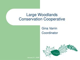Large Woodlands Conservation Cooperative