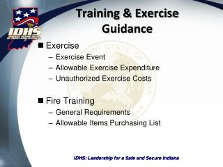 Training & Exercise Guidance