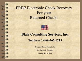 FREE Electronic Check Recovery For your Returned Checks