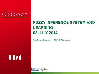 Fuzzy inference  system and  learning 08  july  2014