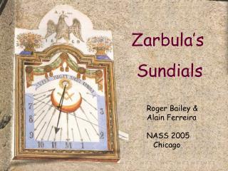 Zarbula's  Sundials