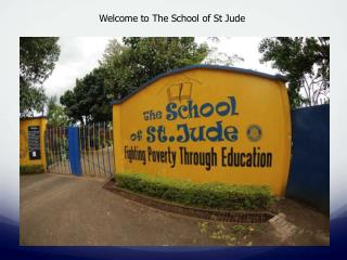 Welcome to The School of St Jude