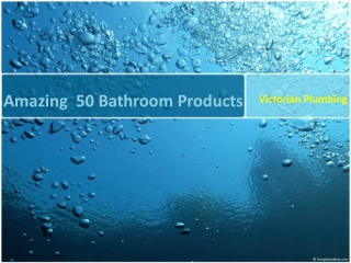 Variety of bathroom products
