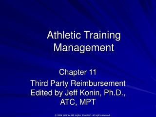 Athletic Training Management