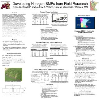 Developing Nitrogen BMPs from Field Research